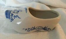 Blue & White Dutch Porcelain Shoe Bloom Rite  Blue Delft Design