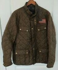 Rare Barbour Limited Edition Steve McQueen Jeffries Quilted Olive/Brown XL Coat