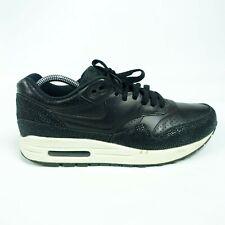 Mens Nike Airmax 1 Black Leather Pa Caviar Size 8  705007-001
