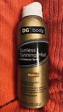 SUNLESS TANNING MIST Continuous Spray Medium Color DG body 5.3oz (new sealed)