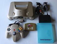 *SUPER NICE* USA Nintendo 64 N64 Gold Console System Controller Rare Zelda Game