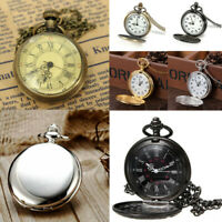 Retro Vintage Antique Steampunk Quartz Chain Necklace Pendant Pocket Watch