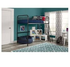 Twin Metal Loft Bed Kelsey Kids Furniture Children Lounging Studying Bedroom