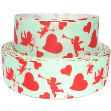"""Grosgrain Ribbon 1.5"""" Valentine's Day Hearts Cupid Love Candy V33"""