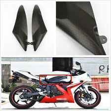 Pair Carbon Fiber Look Tank Side Fairing Panel Cover For Yamaha YZF R6 2006 2007
