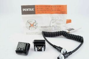 Pentax Hot-Shoe Adapter F & 5P Sync Cord F Set TTL  #MAP-USEDRC