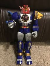 "2002 Power Rangers Ninja Storm Blue Lightning Megazord ZORD 10"" Figure Bandai"
