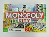 Monopoly City board game with 3D buildings Age 8+ complete J1