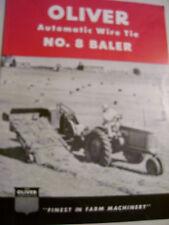 VINTAGE OLIVER  ADVERTISING BROCHURE -# 8 WIRE TIE BALER -1951