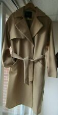 La Redoute R Essentiel  UK14 EU40 Camel Beige Trench style Wool Rich Coat