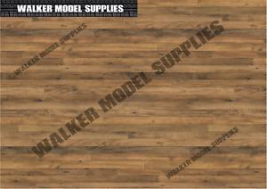 1:18 Scala (3xA4) Garage Legno Muro / Pavimento - Stacca E Applicare Adesivo