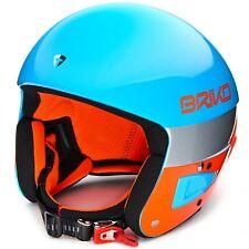 Briko Vulcano FIS 6.8 Ski Helmet Light Blue Fluo Orange
