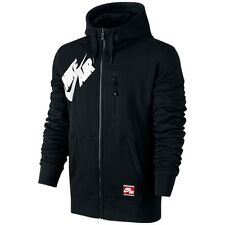 Nike Air Max Bonded Full Zip Hoodie Black/White Uk Size Large Men's 689371-010