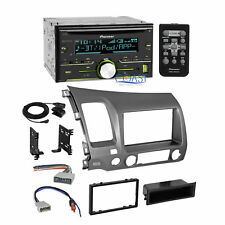 Pioneer Car Bluetooth Stereo DDin Taupe Dash Kit Harness for 06-11 Honda Civic