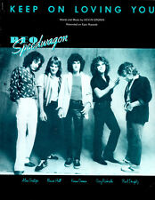 REO Speedwagon sheet music Keep On Loving You 1981 5 pages (VG+ shape)