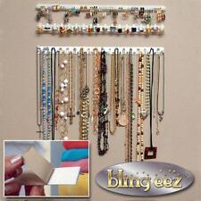 9pcs Adhesive Wall Mount Jewelry Hooks Holder Storage Set Organizer Display JJ
