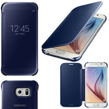 SAMSUNG Galaxy S6 Clear View Cover Blu Navy Blue ef-zg920bbeg 24 HR POST Retail Box