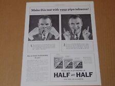 1938 HALF and Half Tobacco Aroma Pinch Nose Test! vintage art print ad
