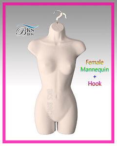 Flesh Female MANNEQUIN Display Body Torso Dress Hanging Form Nude Women Manikin