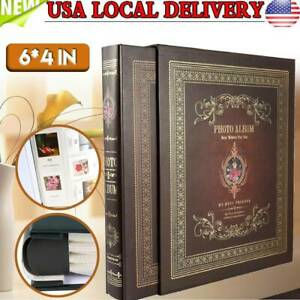 Extra Large Capacity Wedding Family Photo Picutre Albums Holds 500 Pockets Horizontal and Vertical 4 by 6 Pictures with Black Pages Rose Purple Lanpn Photo Album 4x6 500 Photos