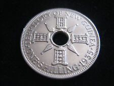 """MDS NEW GUINEA ONE SHILLING 1935 """"GEORGE V"""", SILBER  #"""