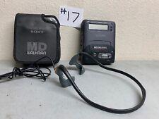 Sony Md Walkman Mz R2 With Case Recorder/Player W/ Sony Gpx Headphones