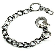 "DK Short Medieval Knight Gothic Symbol Key Jean Wallet Chain (14"") CS102 BLACK"
