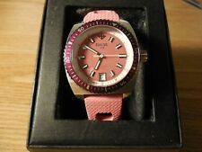 "HOT PINK ""Zodiac Sea Dragon"" 100 METER DIVERS WATCH PINK DIAL/PINK BAND Z02245"