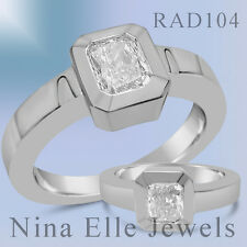 GIA CERTIFIED 1.20CT RADIANT CUT SOLITAIRE  DIAMOND ENGAGEMENT RING