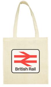 Cotton Shopping Tote Bag - British Rail Double Arrow Sign