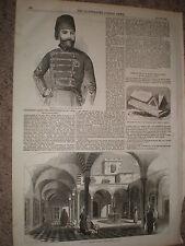 New Bey of Tunis Muhammad II ibn al-Husayn and his palace 1855 old prints