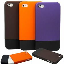 for iphone 4 4S silider 2 colored case black orange brown purple