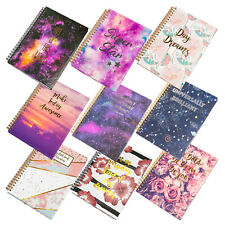 Spiral A5 Journal Hardback Ruled Paper Notebook Writing Book with Design Pattern