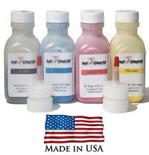 4 Color Toner Refill Kit for Samsung CLP365, CLP-365W, CLX-3305FW, CLT406S, 365