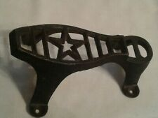 Vintage Cast Iron Mud Scraper In Shape Of A Shoe Star Center Black Color