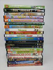 Lot of 21 Kids' DVDs: Muppets/Shrek/Lego Ninja/Dora/Nick Jr. Wonder Pets etc.