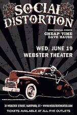 SOCIAL DISTORTION / CHEAP TIME / DAVE HAUSE 2013 HARTFORD CONCERT TOUR POSTER