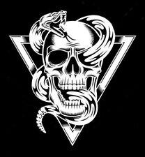 high detail airbrush stencil skull and rattlesnake  FREE UK POSTAGE