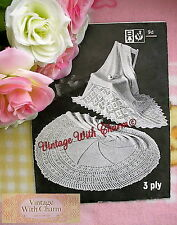 Vintage 1950's Knitting Pattern Baby's Shawl. 2 Styles, Exquisite Designs NO P&P
