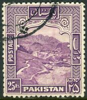 PAKISTAN-1948-57 25r Violet Perf 12. A fine used example Sg 43a
