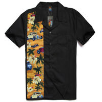 Men's, Rockabilly shirts, Hot Rod, Rock n roll, Hawaiian , Route 66, car shirt.