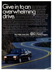 1986 VOLKSWAGEN Jetta GLI Vintage Original Print AD Black car photo road Canada