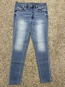 AE AMERICAN EAGLE OUTFITTERS HI RISE JEGGING SUPER STRETCH WOMENS JEANS 12 L