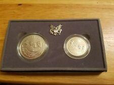 1991 Mount Rushmore Anniversary Coins UNC Silver Dollar and Clad Half SET w/ COA