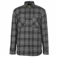 Dunlop Flannel Shirt Mens Gents Full Length Sleeve Cotton Chest Pocket Fold Over