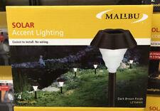 (4) Intermatic Malibu Outdoor Solar Landscape Garden Lights Pathway LED NEW