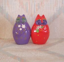 Cat Salt And Pepper Shakers Laurel Burch Wishing Cats Pattern