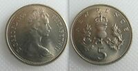Collectable 1968 Queen Elizabeth II - Five New Pence Coin