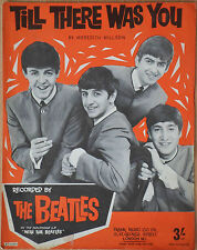 """♫ THE BEATLES rare 1960's UK sheet music """"TILL THERE WAS YOU""""  ♫"""