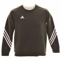ADIDAS Boys Sweatshirt Jumper 11-12 Years Black Cotton  HL05